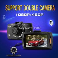 "2014 G30B Allwinner Car DVR Dual Lens Car Camera 2.7"" LCD Full HD 1080P Dash Cam with G-sensor H.264 Night Vision"