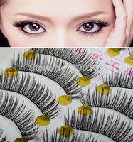 New 20Pcs/lot Natural Eye Lash Long Thin Fake False Eyelashes Long Curling Eyelash Women Natural Eyelashes Makeup Accessoires