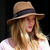 Discount fashion autumn and winter women woolen hats large brim jazz fedoras brown elegant caps for women free shipping