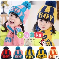 5 Colors Free Shipping Children's Hat Cute Cartoon Wool Caps Girls Boys Knitted Hat Loverly Crochet Beanies #1058