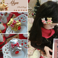 Freeshipping!New Girls/Kids/Infant/Christmas Barrette/Baby Hairclamp/Hairpins/Hair Accessories,GHF314