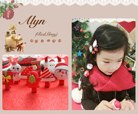 Freeshipping!New Girls/Kids/Infant/Christmas Barrette/Baby Hairclamp/Hairpins/Hair Accessories,GHF313