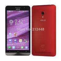 Original T00F Zenfone5 red,Intel Atom Z2580 2.0Ghz,5.0'' IPS screen 1280*720,1G RAM,8G ROM,Dual SIM,GPS,android4.3,70 Language
