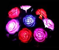 LED Rose, Christmas /Holiday gift, Romantic birthday gift luminous rose flash rose colorful in the luminous rose lamp, Xmas