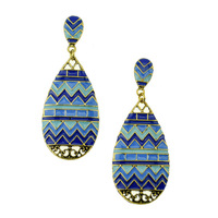 Egyptian Style Retro Vintage Ancient Wave Pattern Mysterious Earrings For Woman Fashion Resin Jewelry Wholesale Price