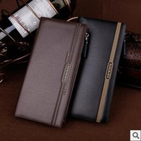 New Mens Black/brown Quality Leather Bifold Long Wallet Id Card Holder Billfold Purse Coffee Color Classical Cutch