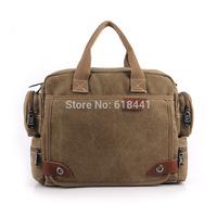 Factory outlets men and women fashion canvas bag Shoulder Messenger Bag handbag business computer laptop bag