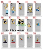 Transparent Hard Plastic Phone Cases For iphone 6 Plus Case 5.5 inch Grind arenaceous Matte Homer Simpson Gasp Logo Print Cover