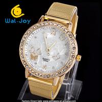 50/lot alibaba express vogue hot sale net belt buttery case smart ladies wrist watch(WJ-2668)