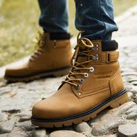 Leather Boots Leisure  plus size men winter shoes  Outdoor sports  Super warm men winter shoes