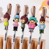 12 unisex personalized pen core supplies korea stationery pen cartoon water-based pen