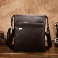 Vintage England Fashion Natural Cow Leather Men Messenger Bags Genuine leather shoulder crossbody bags Business Briefcase