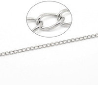 New Style DIY Accessories 3x10M Links-Soldered Curb Silver Tone Stainless Steel Chains 3.5x2.5mm Free Shipping