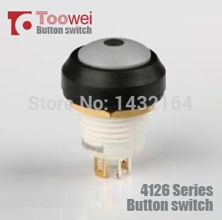 10pcs 12mm Latching pushbutton switch LED Light 5A 250V IP67(China (Mainland))