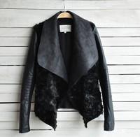 2014 European leg of spring and winter women's fashion casual European and American fashion models fur coat