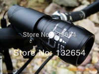 High Power Torch Zoomable CREE LED Flashlight Torch light outdoor lighting  Free shipping
