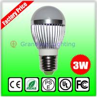 led lamp bulbs 3w bubble ball white led lights e27 B22 e14 AC85-265V silver shell color,warm/cool white
