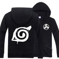 Casual Winter Men Women Anime Naruto Cosplay Costume Hatake Kakashi Hoodie Jacket Cardigan Zip Coat 21 Design Size S To XXL