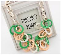 Supernova sale jewelry  women elegant statement  resin circle pendant&necklace