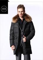 HOYANP 2014 New Long men's down jacket, High quality winter jacket men coat, winter down-jacket men Fur Collar, L-4XL, Free Ship