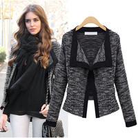2014 new fashion european brand women coat  long-sleeve cardigan blazer short jacket free shipping