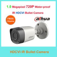 Free Shipping Dahua 1 Megapixel 3.6MM 720P HD Cost-effective Water-proof Mini IR Bullet HDCVI Camera HAC-HFW1000R CCTV Camera