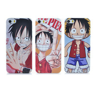 New Fashion Cartoon movie One Piece Luffy pattern back hard Cover phone case for iphone 5 5s PT1488