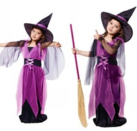 Children's Halloween costume cosplay costumes stage performance clothing girls dress female witch witch clothes