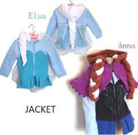 Girls jacket. New autumn/winter children's coat, 100% cotton Elsa & Anna coat, European and American fashion children's coat
