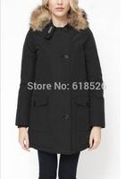 2014  warm fur collar short  Thickening of the down coat  jacket  for women brand Woolrich winter jacket coat women WL-02
