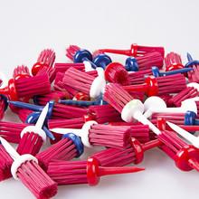 Free Shipping New 36 Pack Plastic Bristles Golf Brush Tees Driver Training Bristle Tee 60mm(China (Mainland))