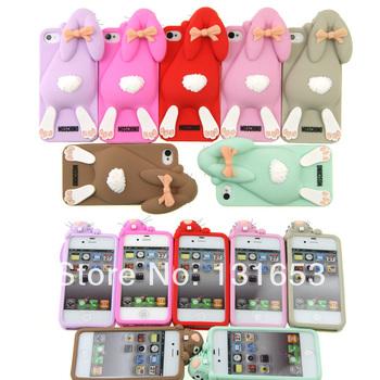 Новинка 3D милый симпатичный кролик шаблон чехол для IPhone 4 4S