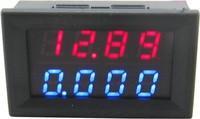 """10pcs/lot red+blue dual 0.28 """" LED 2in1 0-33.00V/0-3.000A digital voltmeter ammeter volt amp panel meter voltage current monitor"""