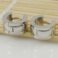 Fashion Polishing Stainless Steel For Men Earring High Quality 2014 New Arrival Clips Jewelry Free Shipping