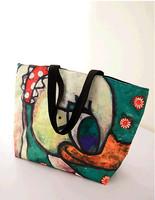 Hot Sale!!! New Retro Oil Painting Women Handbag Big Dunk Pattern Lady Shoulder Bag Big Bag