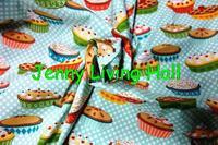 129*100cm European and American style retro fun cake handmade DIY printing cotton fabric