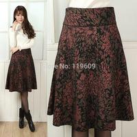 Autumn Winter Mother Skirts Extra Large Size Woolen Skirts Women A-Line Skirts S, M, L, XL,XXL,XXXL,4XL,5XL,6XL Skirts For Women