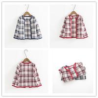 Hu sunshine wholesale 2014 fashion girl autumn winter Children plaid cape blends woolen Wool warm coat WW10170841H