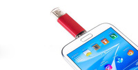 10pcs wholesale Mini 4GB 8GB 16GB 32GB Smart Phone Android OTG USB 2.0 fashion Flash Drive U-disk Pen Drive Dual Port