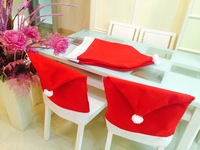 Wholesale Christmas Santa Claus Cap Chair Covers INDOOR CHRISTMAS DECORATION Supplies Free Shipping