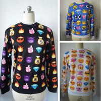 Hot Sale emoji Sweatshirt  Women Hoody New 2014 Autumn Sport Suit Fashion Women emoji Hoodies Tracksuits Free Shipping