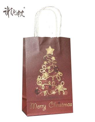 2014 Custom Made oem production matt lamination brown christmas Gift Bags with art Paper(China (Mainland))