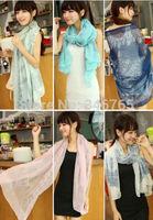 2014 Summer New Fashion Lady Retro Long Soft Chiffon Scarf Wrap Shawl Stole Scarves