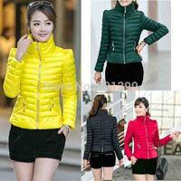 Casaco Feminino Inverno 2014 Winter Jacket Women Slim Office Ladies Zippers Plus Size Coats Jaquetas size Down jackets L-XXXL