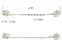 Free shipping!!!Zinc Alloy European Safety Chain,New 2014 Jewelry, silver color plated, nickel, lead & cadmium free, 73mm