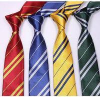 Striped Harry Potter Neck Ties for men School students' necktie
