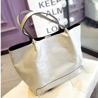 New fashion casual shopping bag vintage silver black women handbag shoulder bags large small bags  female bolsas femininas