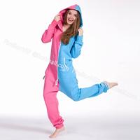 Fashion Contrast Color Jumpsuit for women female outdoor sports zip pullover overalls hoodies sweatshirt one piece onesie romper