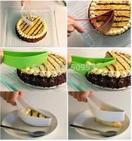 "M112""New Cake Pie Slicer Sheet Guide Cutter Server Bread Slice Knife Kitchen Gadget"