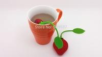 3pcs/lot Silicone Strawberry Design Loose Tea Leaf Strainer Herbal Spice Infuser Filter Tools 1OFM